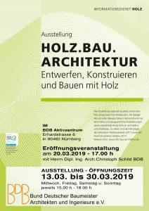 """""""HOLZ.BAU.ARCHITEKTUR – Entwerfen, Konstruieren und Bauen mit Holz"""" @ BDB Aktivzentrum in Nürnberg"""