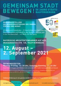 Gemeinsam Stadt bewegen! 50 Jahre Städtebauförderung @ Bayerische Architektenkammer auf AEG